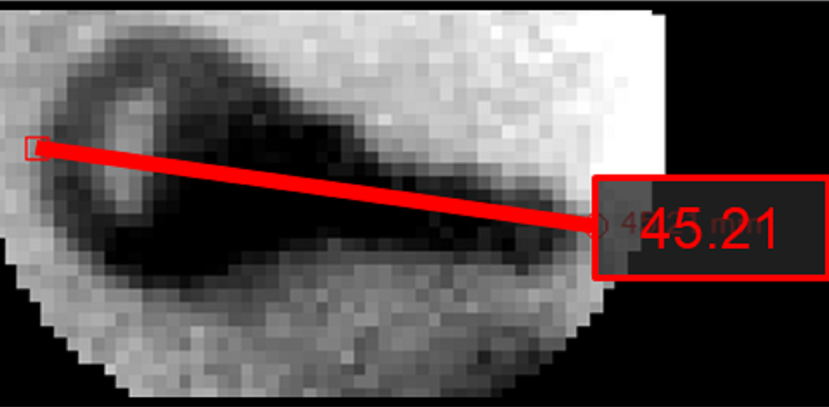 imaging small objects 2D xray image dimensional accuracy